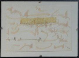 Karte mit Haaren unter Tesafilm, 1973, Sammlung Christa Düwell