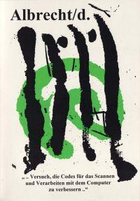 1996 transformierte Albrecht/d. in einem Buch Barcodes zu abstrakten Bildern, die zugleich auch als musikalische Notationen interpretiert werden können