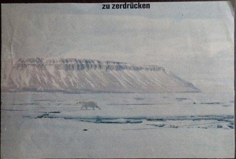 Rückseite der Malerei auf Illustrierten-Abbildung, ca. 16 X 20 cm, undatiert