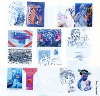 Illustrationen zum Mail-Art-Artikel in ketchup 06/1988, von Albrecht/d. zur Verfügung gestellt.