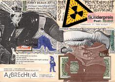 Selbstgestaltete Briefmarke (8). Insgesamt nimmt die Arbeit den Raum von 5 Marken ein.