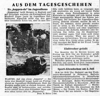 Nachbericht in der Stuttgarter Rundschau: Verständnislos und ablehnend.